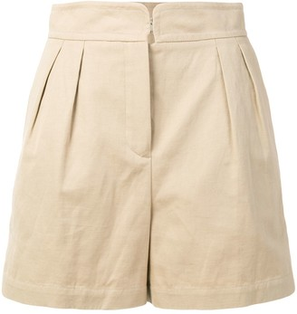 Holland & Holland High-Rise Pleated Shorts