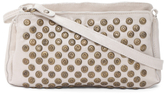 Made In Italy Studded Leather Shoulder Bag