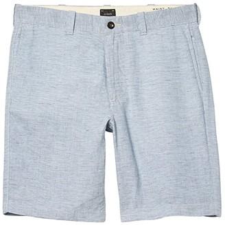J.Crew 9 Linen Shorts (Blue/White) Men's Shorts