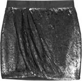 Sequined silk-tulle mini skirt