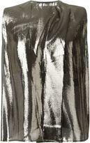 Haider Ackermann metallic effect top - women - Silk/Polyurethane - 34