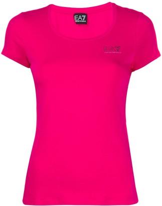 Emporio Armani Ea7 scoop neck T-shirt