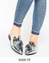 Asos MILLISECT Wide Fit Embellished Mules