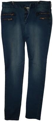 MANGO Blue Cotton Jeans for Women