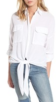 Faithfull The Brand Women's Brigitte Knotted Hem Shirt