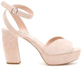 Miu Miu Suede Platform Sandals