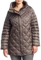 Marina Rinaldi, Plus Size Quilted High Neck Jacket