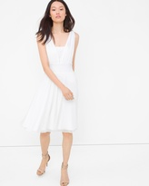 White House Black Market Genius Chiffon Convertible White Dress
