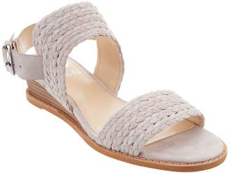 Vince Camuto Suede Low Wedge Sandals - Raner