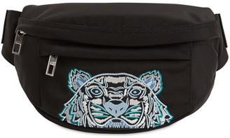 Kenzo Mini Tiger Embroidered Canvas Belt Bag