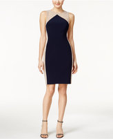 Xscape Evenings Sleeveless Colorblocked Beaded Dress