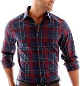 Claiborne Tartan Plaid Button-Front Shirt