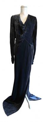Tanya Taylor Grey Velvet Dress for Women