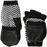 Plush Fleece - Lined Herringbone Texting Mittens