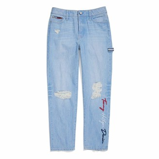 Tommy Hilfiger Women's Adaptive Boyfriend Jeans with Adjustable Waist and Magnet Buttons