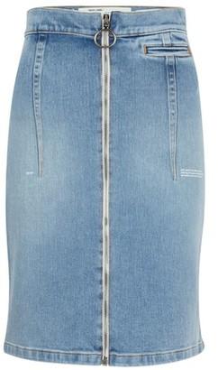 Off-White High-waisted denim skirt