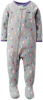 Carter's Graphic Footie (Baby) - Hearts-12 Months