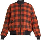 R 13 Reversible checked cotton bomber jacket