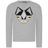 Frankie Morello Frankie MorelloBoys Grey Cat Sweater