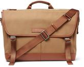WANT Les Essentiels Jackson Leather-Trimmed Organic Cotton-Canvas Messenger Bag