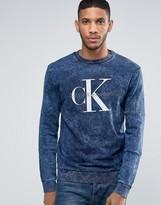 Calvin Klein Jeans 90s Sweatshirt in Acid Blue