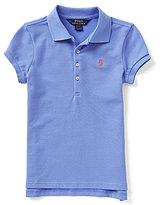 Ralph Lauren Big Girls 7-16 Solid Short-Sleeve Mesh Polo Shirt
