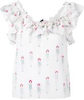 Dondup ruffled neck blouse - women - Silk - 38