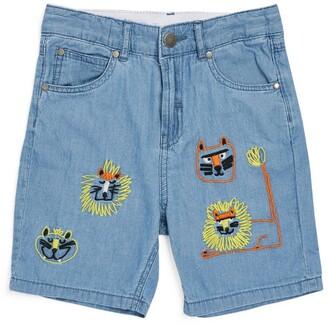 Stella McCartney Kids Cotton Wild Cats Shorts (3-10 Years)