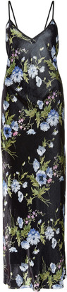 Les Rêveries Exclusive Floral-Print Velvet Maxi Dress