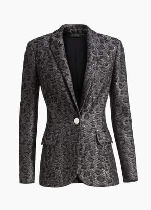 St. John Leopard Jacquard Knit Jacket