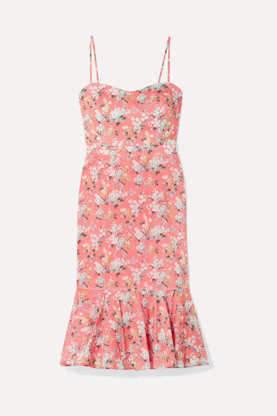 J.Crew Tana Floral-print Cotton-poplin Dress - Pink