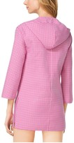 Michael Kors Gingham Hooded Wool Tunic