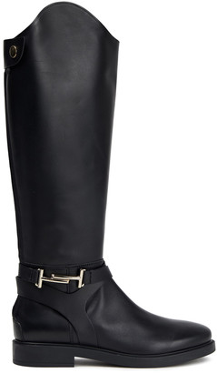 Tod's Embellished Leather Knee Boots
