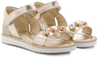 MonnaLisa Open Toe Stud-Embellished Sandals