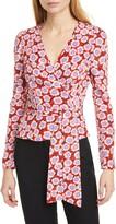 Diane von Furstenberg Alexia Floral Silk Wrap Blouse