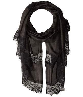 Collection XIIX Lace Panel Evening Wrap Scarf
