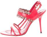 Cesare Paciotti Patent Leather Multistrap Sandals