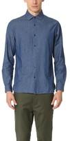 Club Monaco Slim Spread Collar Indigo Dress Shirt