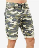 True Religion Men's Ricky Camo-Print Destroyed Shorts