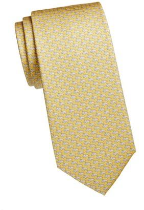 Salvatore Ferragamo Boar Silk Tie