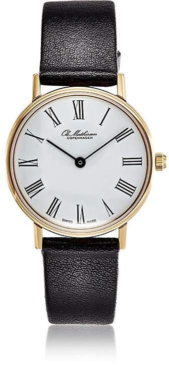 Ole Mathiesen Men's Round-Face Watch