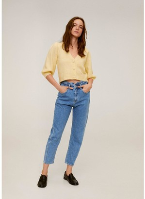 MANGO Slouchy Paperbag Jeans - Blue