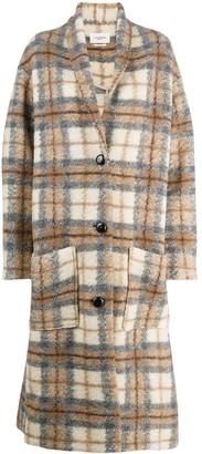 Etoile Isabel Marant Checked Button-Up Coat