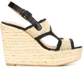 Robert Clergerie 'Drastik' sandals - women - Raffia/Leather/rubber - 4.5