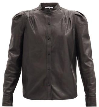 Frame Charlie Leather Shirt - Black