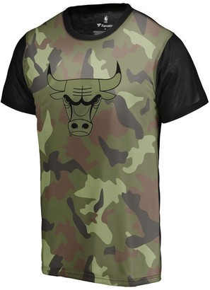 Men's Fanatics Branded Camo Chicago Bulls Camo Collection Blast Sublimated T-Shirt