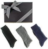 Black Men's Cashmere Socks Gift Set