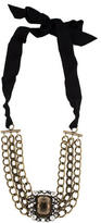 Lanvin Multistrand Crystal Collar Necklace w/ Tags