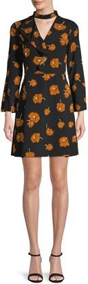 Derek Lam 10 Crosby Floral-Print Ruffled Mini Dress