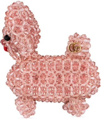 Gucci Bead embroidered dog brooch